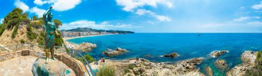 Panorama of Rocks on the coast of Lloret de Mar