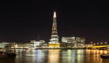 Night landscape view of The Shard