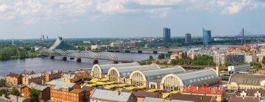 Panoramic aerial view of Riga