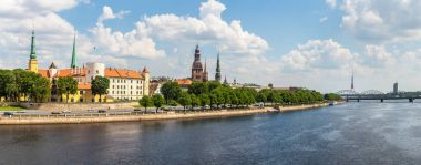 Panoramic view of old town in Riga