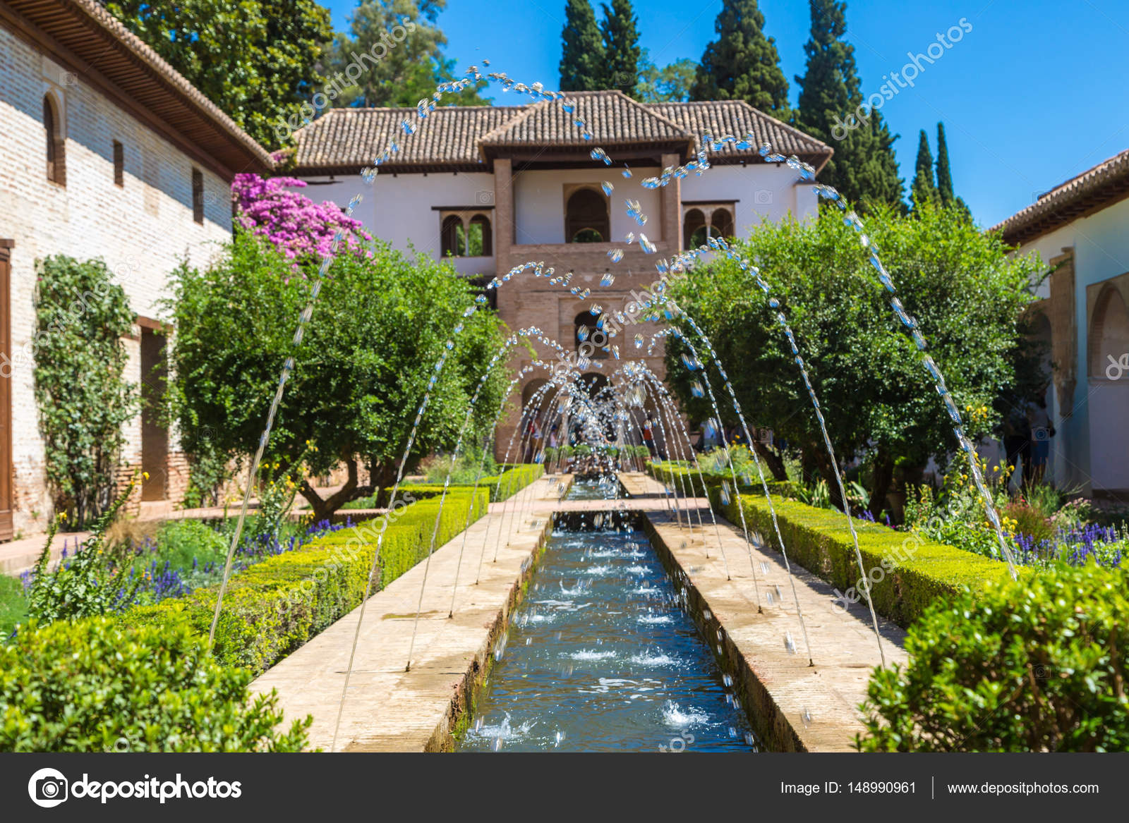fuente y jardines del palacio de la alhambra fotos de stock - Jardin De L Alhambra