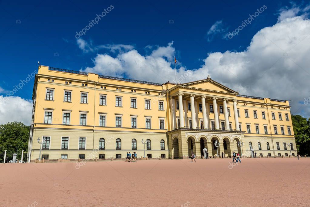 Royal Palace in Oslo, Norway in a summer day