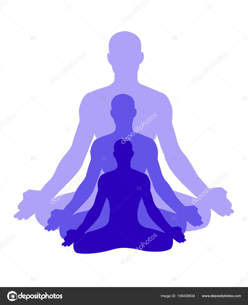 Blue Yoga Silhouette Stock Vector C Surabhi25 159438934