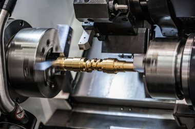 Metalworking CNC milling lathe machine.