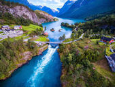 Photo Beautiful Nature Norway aerial photography.