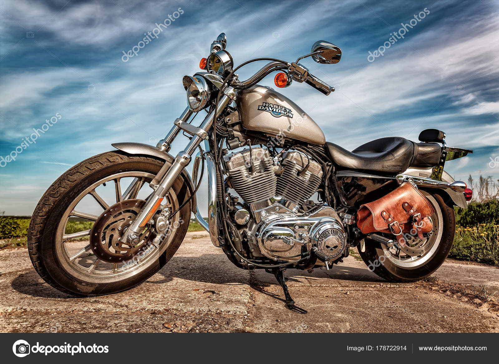 RUSSIA JULY 7 2013 Harley Davidson Sportster 883 Low Sustains A Large Brand Community Which Keeps Active Through Clubs Events