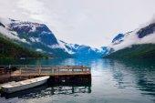 Photo lovatnet lake Beautiful Nature Norway.