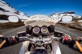 motorkář first-person pohled
