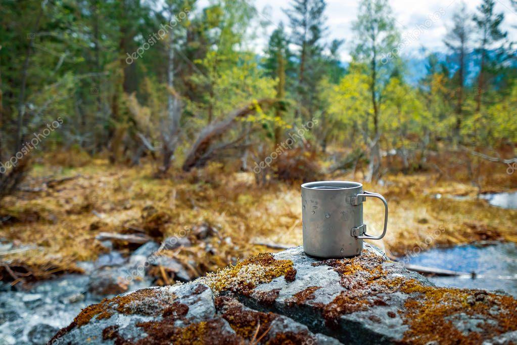 Travel titanium cup Beautiful Nature Norway.