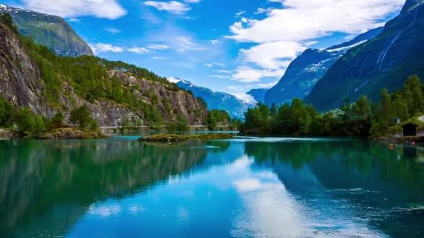 Krásná příroda Norsko přírodní krajina.