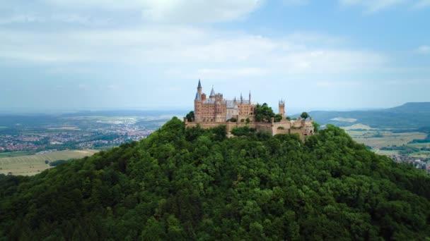 Burg Hohenzollern. Drohnenflüge aus der Luft.