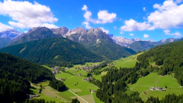 Scenic view of the beautiful landscape in the Alps, Beautiful nature of Italy. Aerial FPV drone flights.