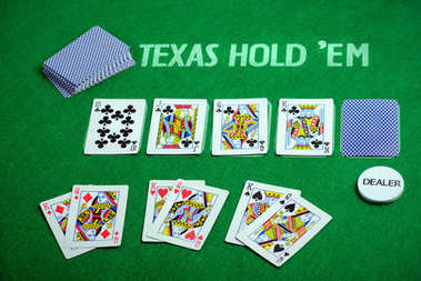 Poker cards Texas Hold em