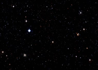 Star field space background. The infinite universe