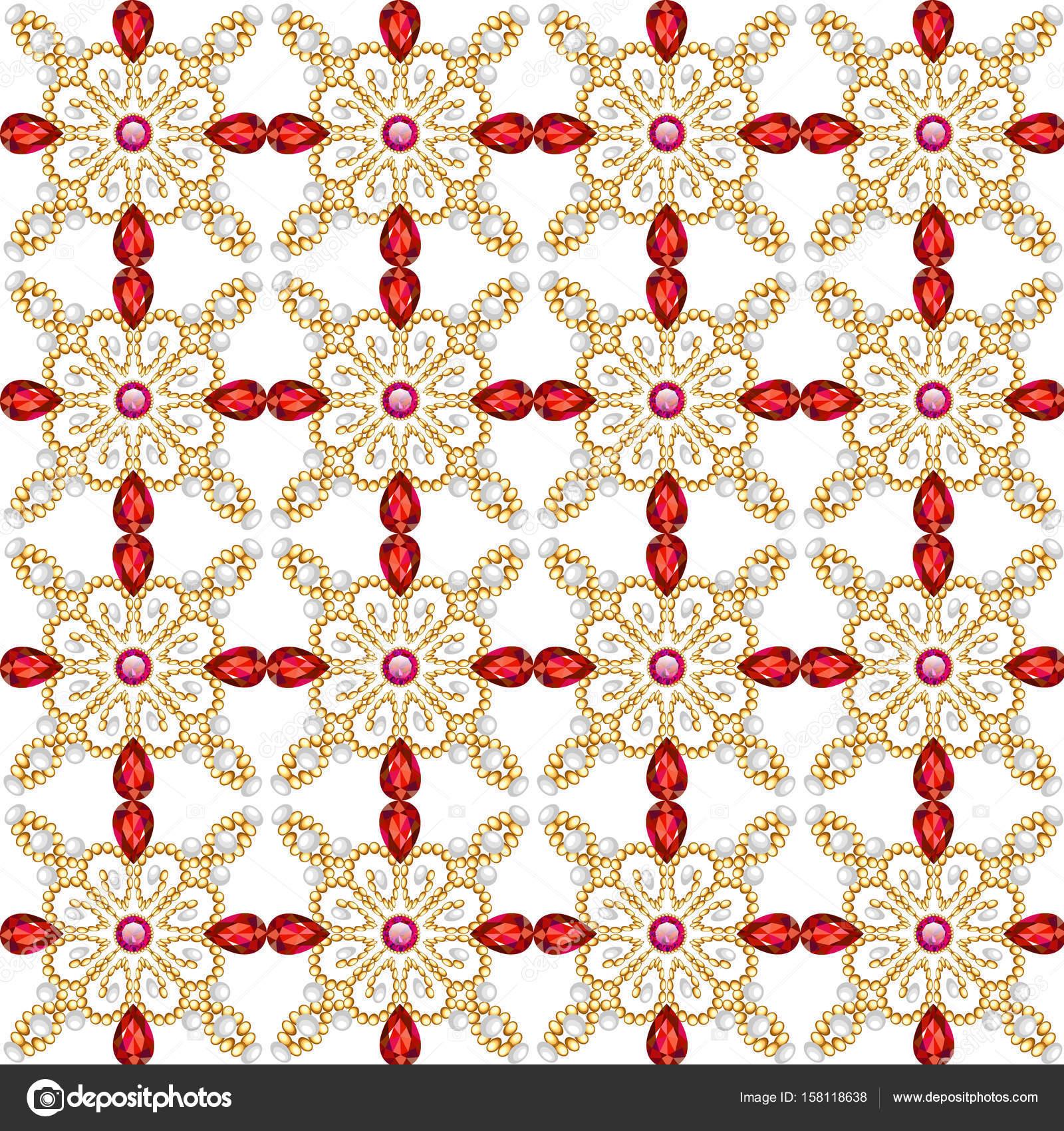 イラスト背景パターンと宝石とのシームレスです — ストックベクター