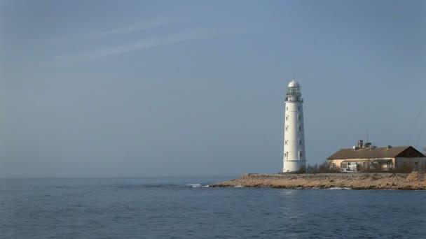 schöner Leuchtturm am Meer
