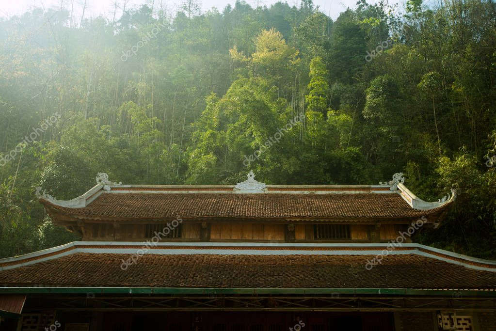 East temple in the mountains, Buddhist eastern monastery
