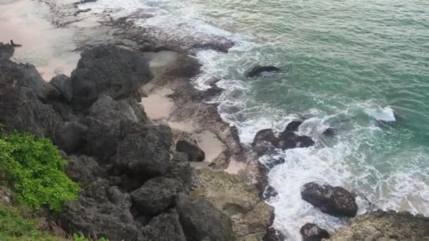 Waves Breaking on the Rocks on the Shore