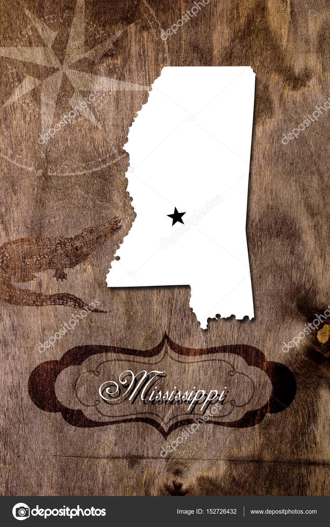 Mississippi State Map Outline.Poster Mississippi State Map Outline Stock Photo C Vipdesignusa