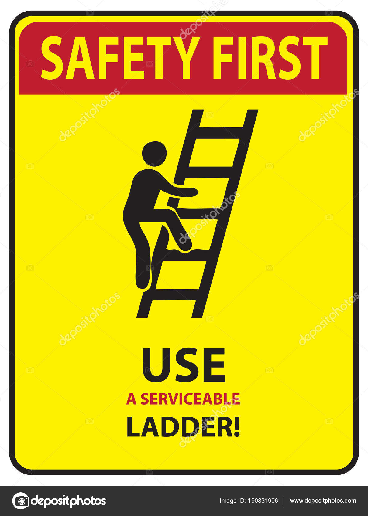 safety first ladder stock vector vipdesignusa 190831906