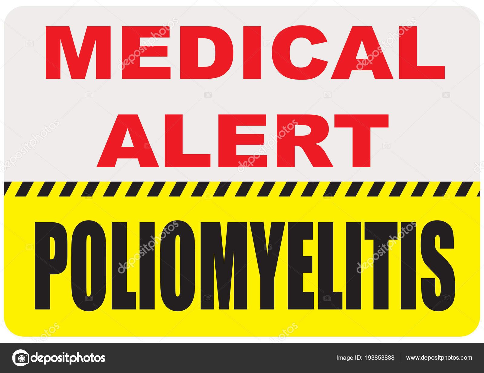 sign medical alert poliomyelitis stock vector vipdesignusa rh depositphotos com Account Alerts Clip Art Account Alerts Clip Art