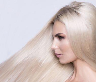 Platinum blonde close up pattern shot.