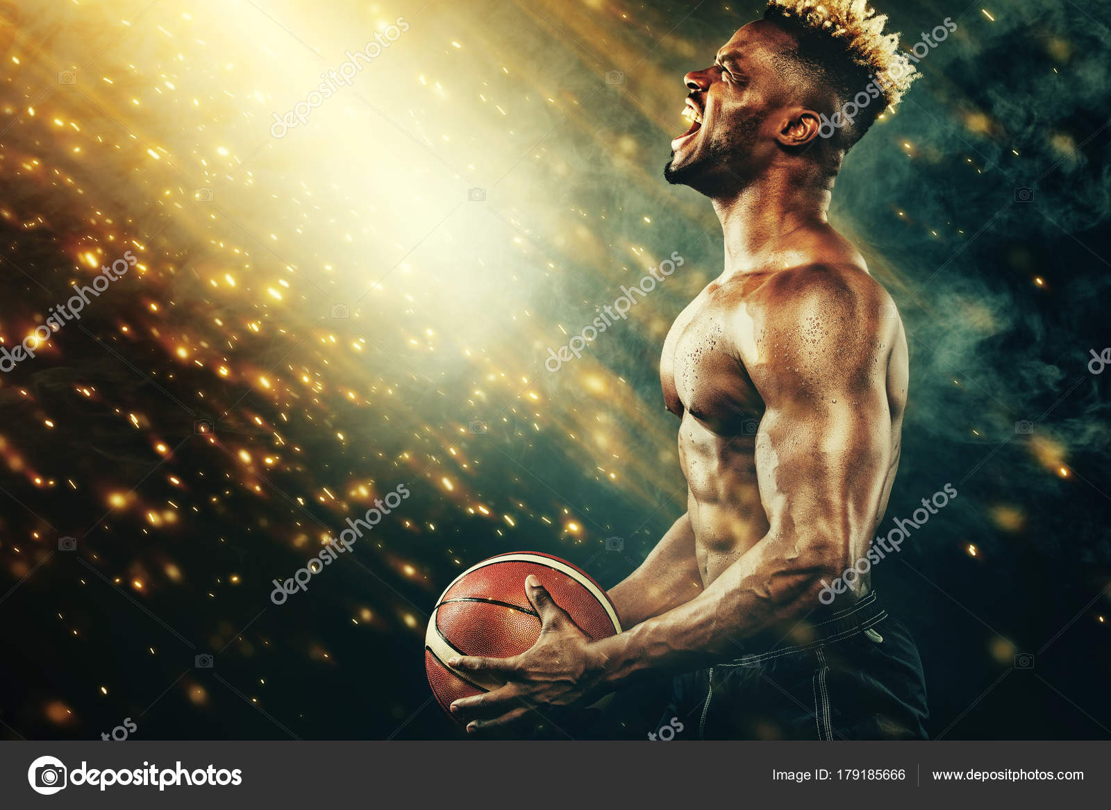 Nba Player Wallpaper Basketball Wallpaper Portrait Of Afro American Sportsman Basketball Player With A Ball Over Black Background Fit Young Man In Sportswear Holding Ball Stock Photo C Mikeorlov 179185666