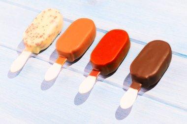 Ice creams on table