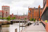 Blick auf Hamburg, Deutschland
