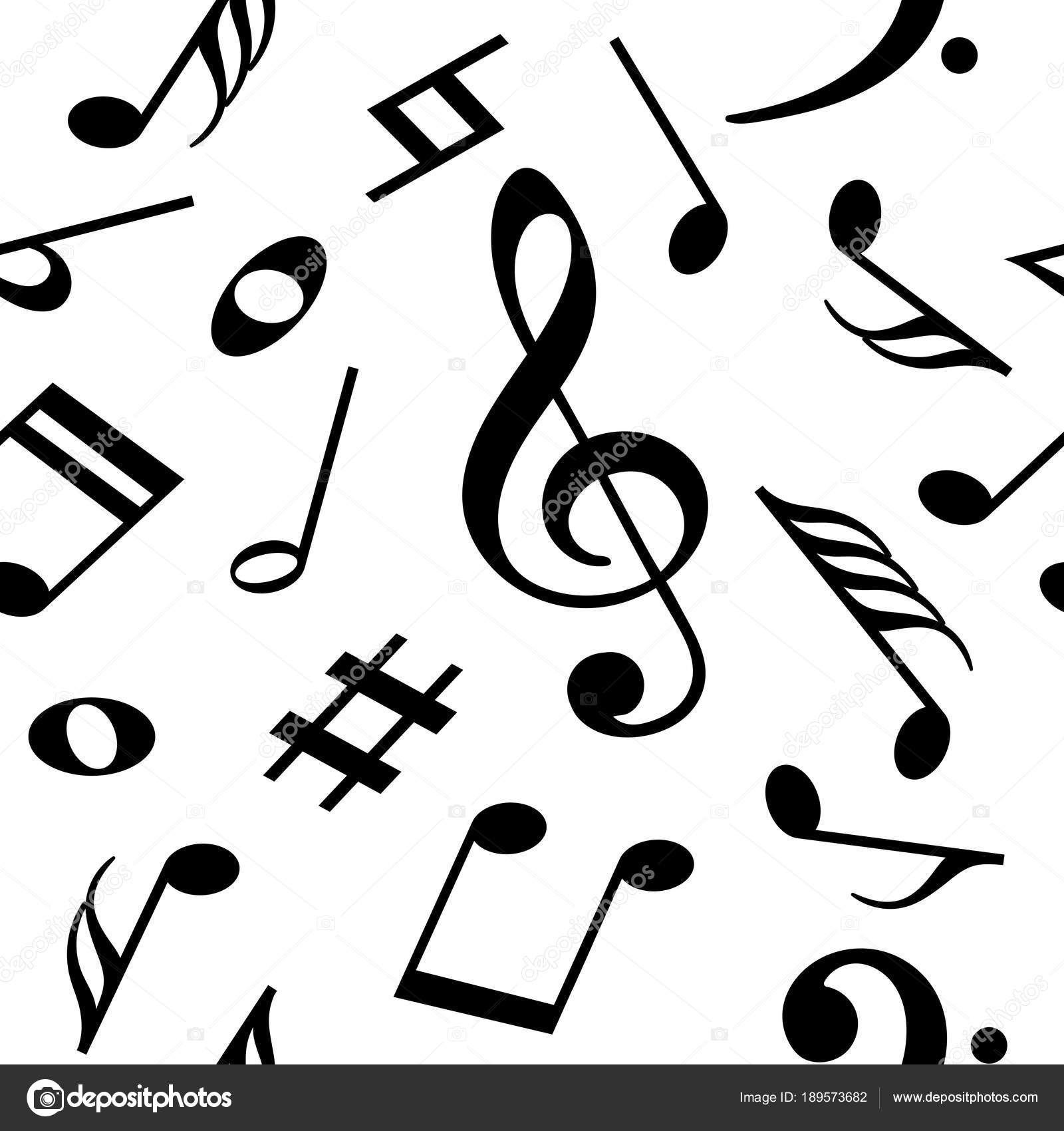 seamless vector pattern with music notes stock vector laures rh depositphotos com Single Music Notes Single Music Notes