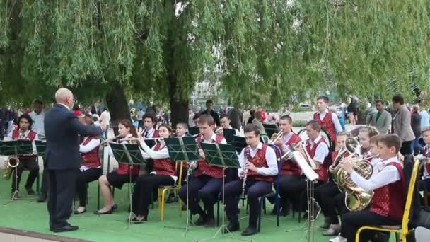 Primorsko Akhtarsk Russia May 2017 Day Victory Teen Band Plays