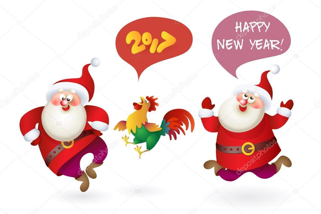 Satz von Weihnachten Weihnachtsmann — Stockvektor © Valenty #126282768