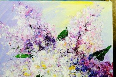 "Картина, постер, плакат, фотообои ""аромат нежной сирени абстракция"", артикул 157351346"