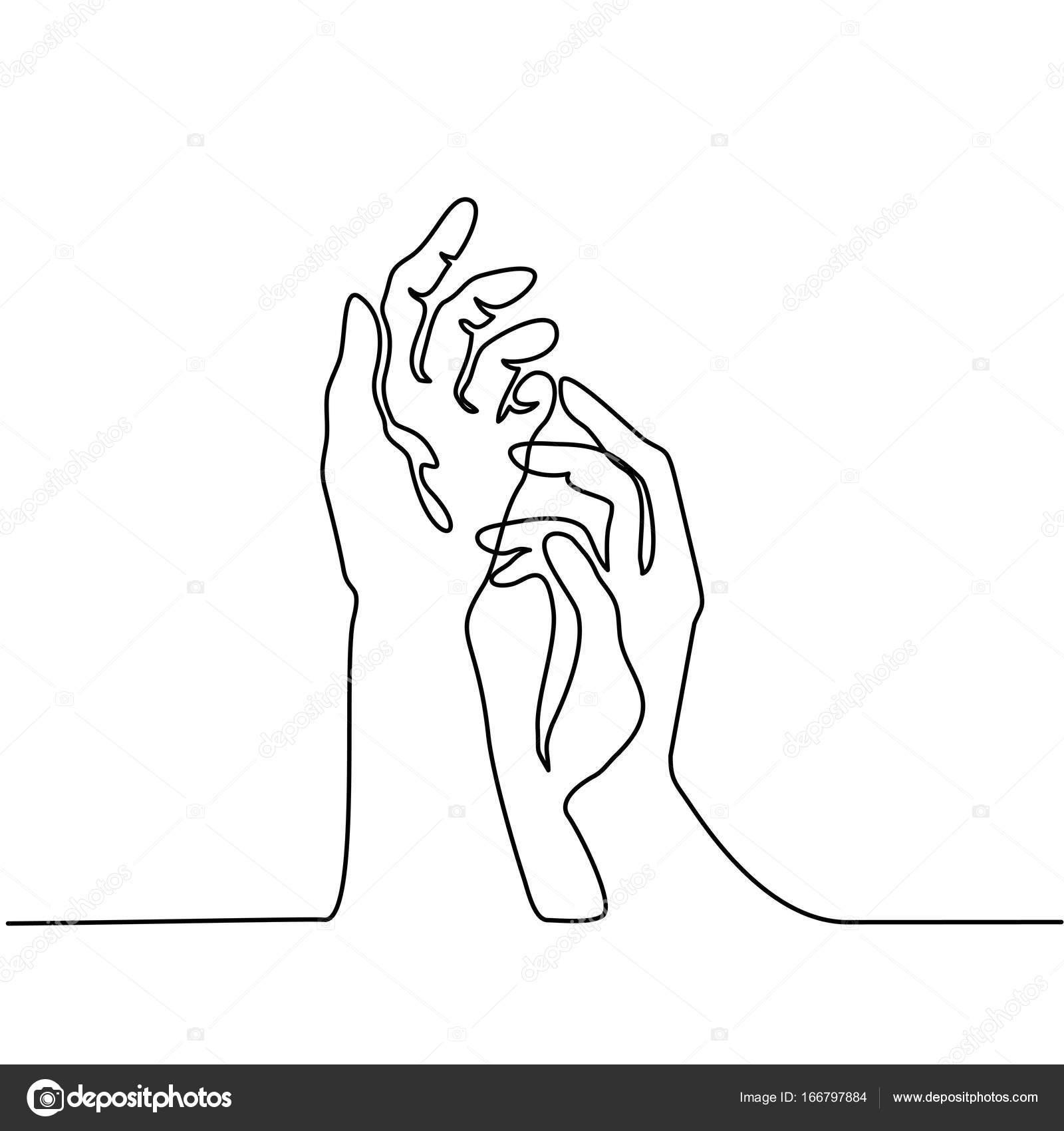 Drawing Lines With Three Js : Handpalmen samen — stockvector valenty