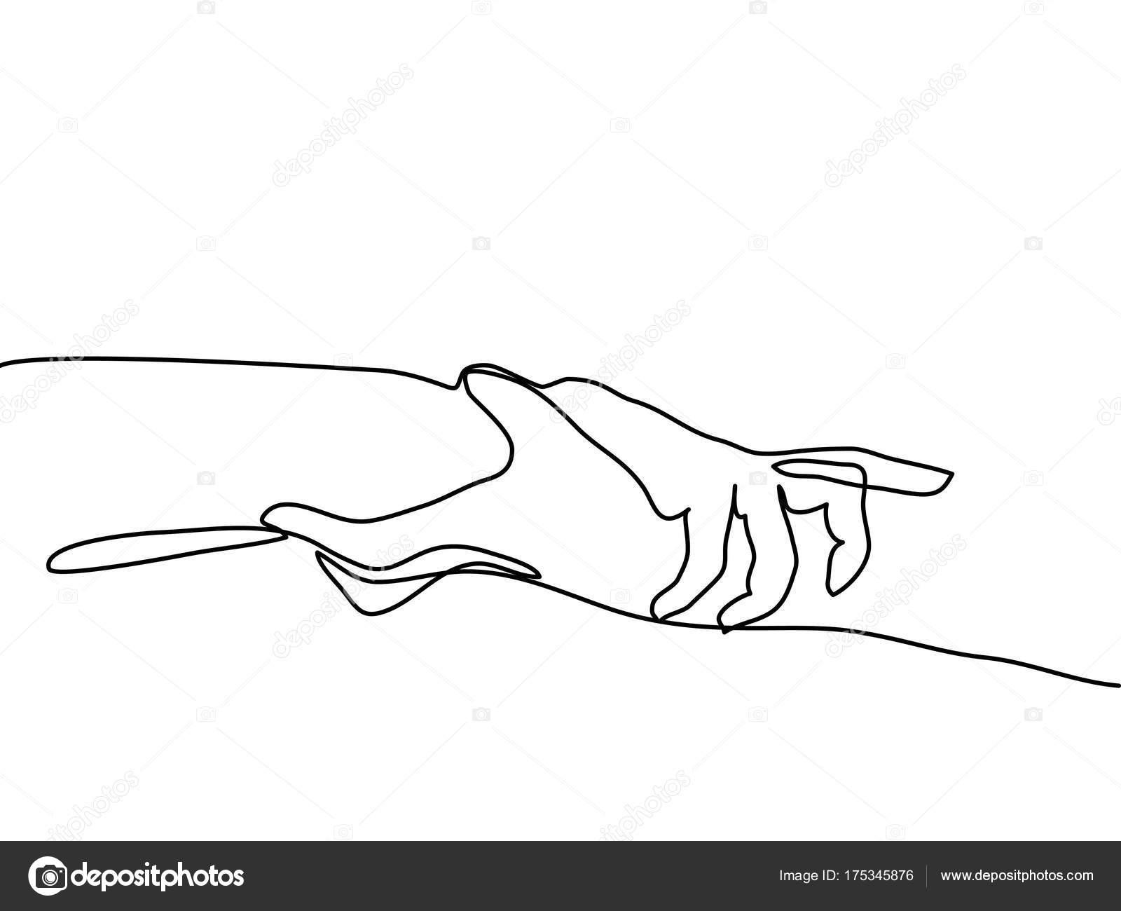 Dibujos Manos Agarradas Del Meñique Dibujo De Línea