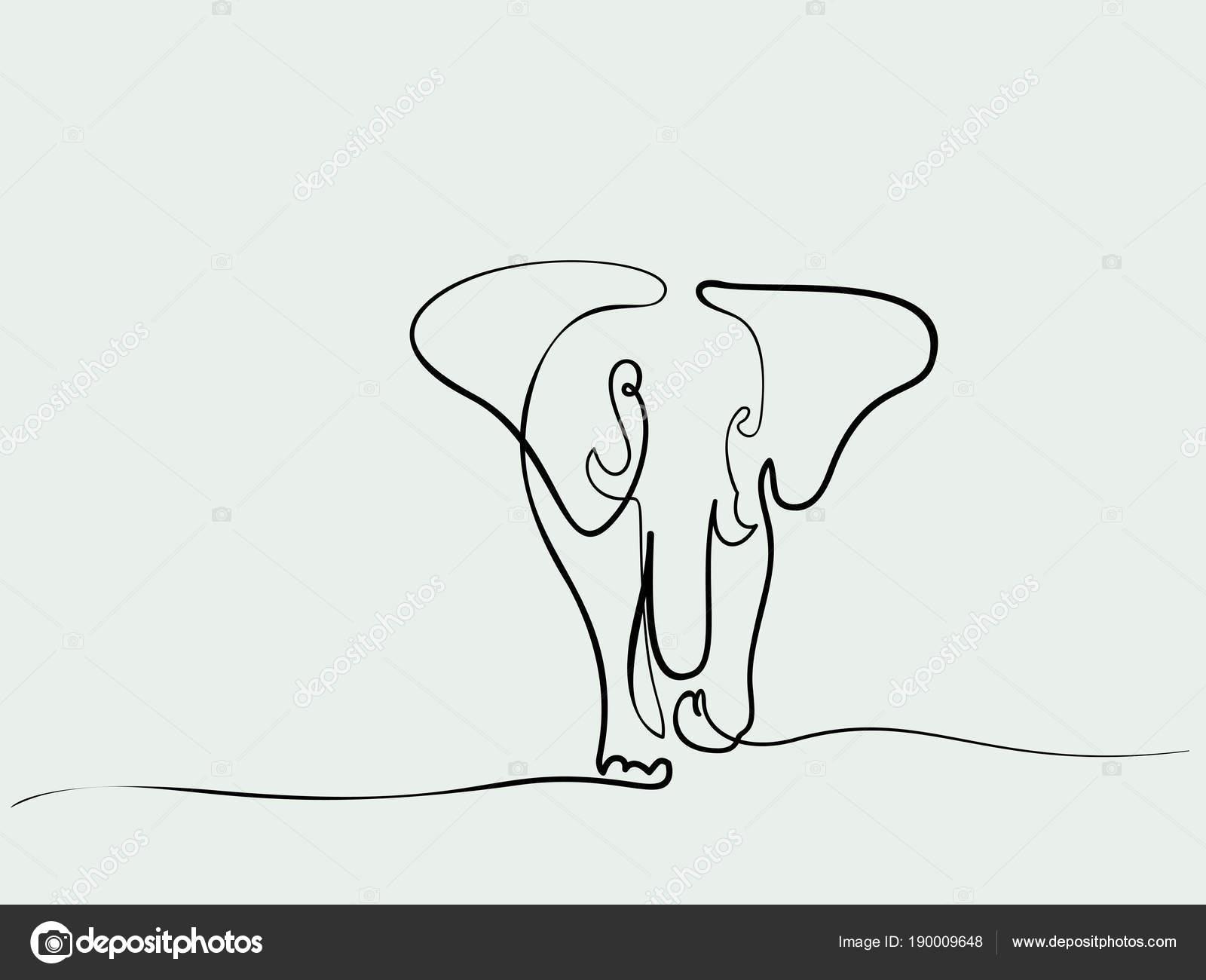 Elefanten zu Fuß symbol — Stockvektor © Valenty #190009648