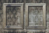 Set of old photo frames on retro wallpaper