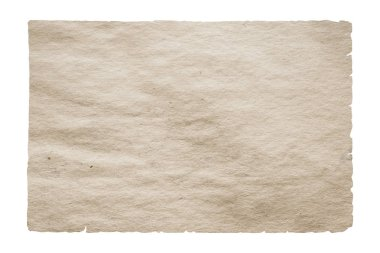 coarse old paper isolated on white background