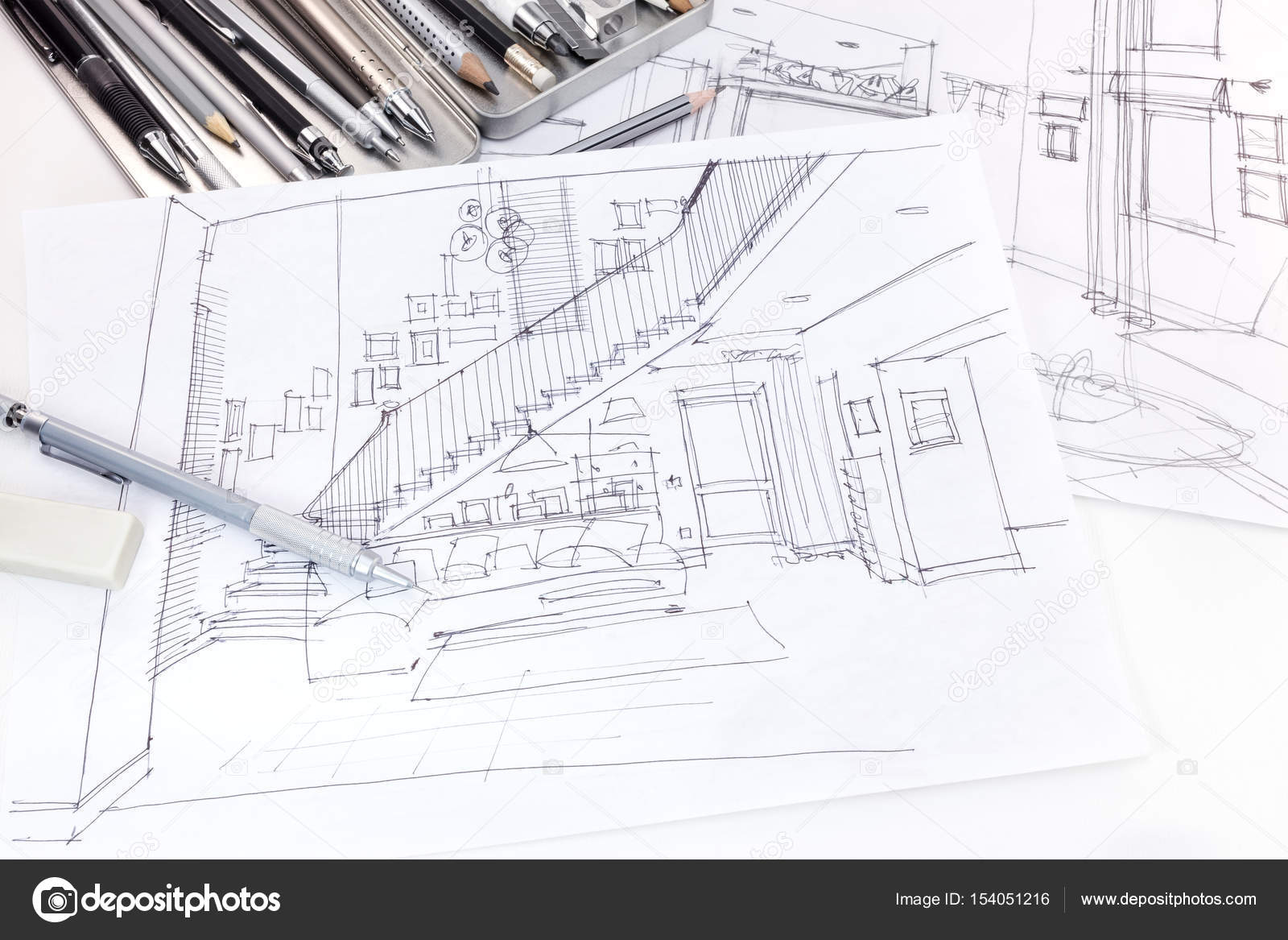 Graphical sketches of living room interior and furniture blueprint designers graphical sketches of living room interior and furniture blueprint with various drawing tools photo by mrtwister malvernweather Images