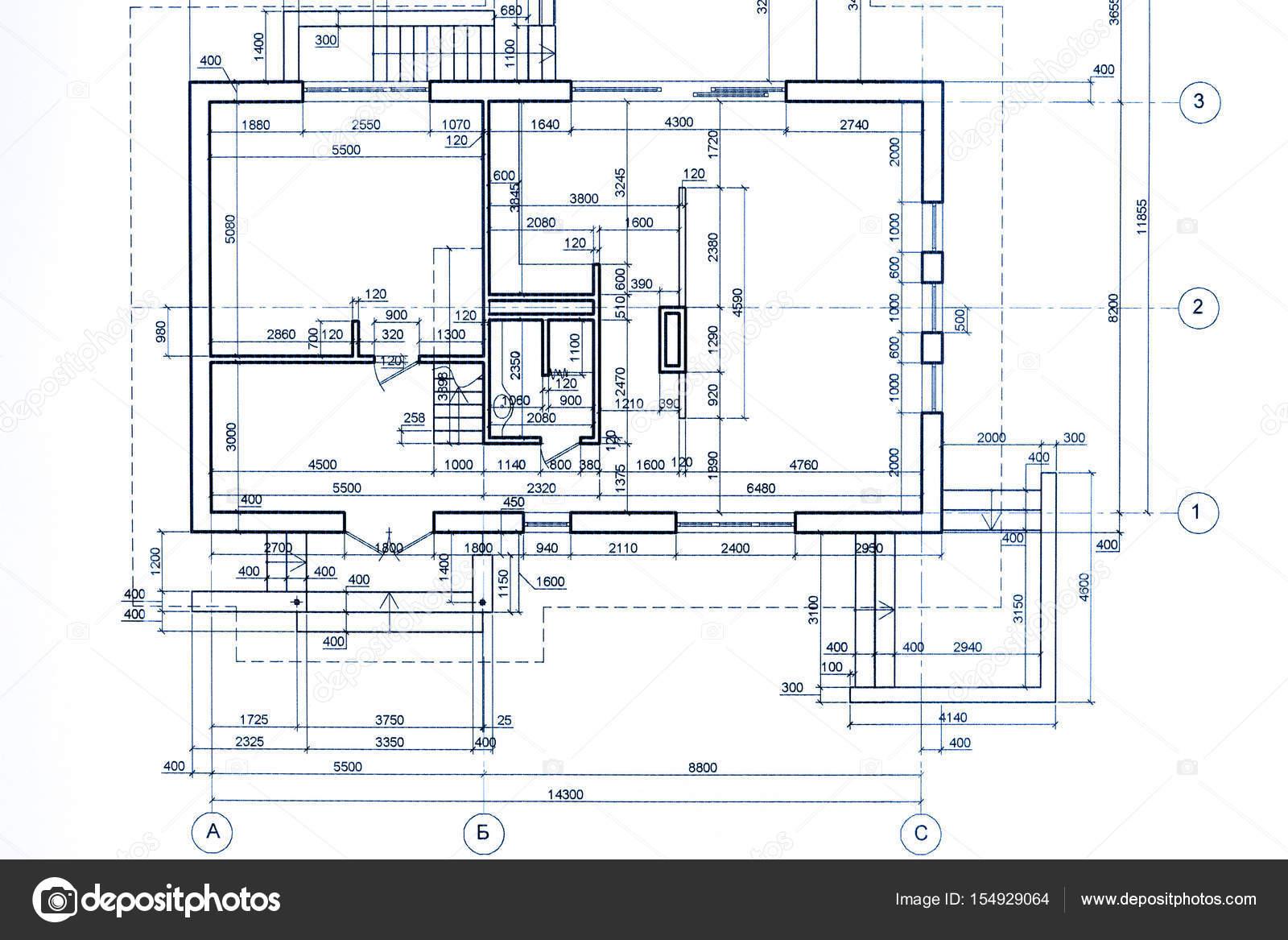 Modèle de plan de maison dessin technique partie du projet architectural image de