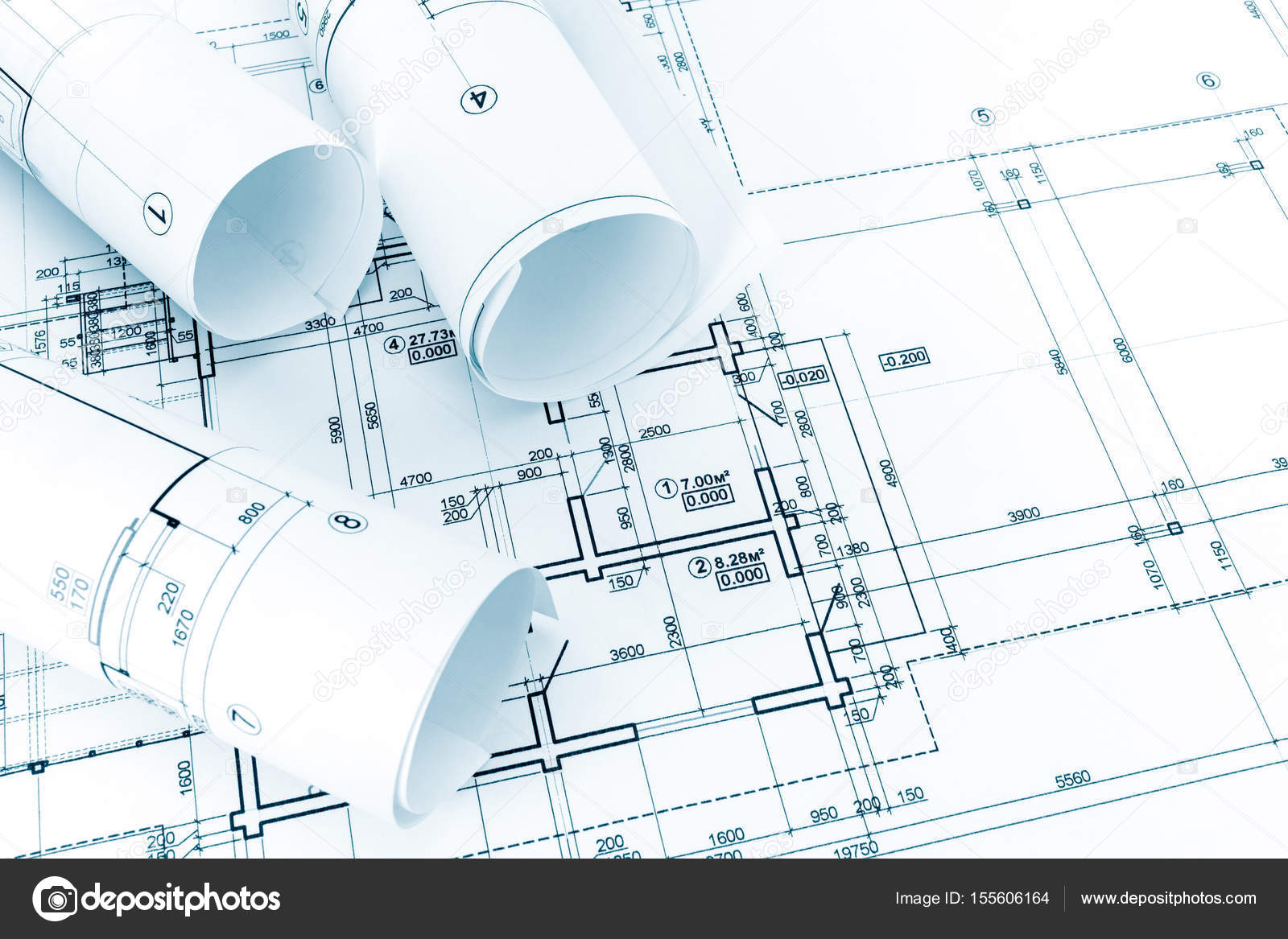 Architectural drawings and blueprint rolls architects worktable architectural drawings and blueprint rolls architects work table photo by mrtwister malvernweather Images