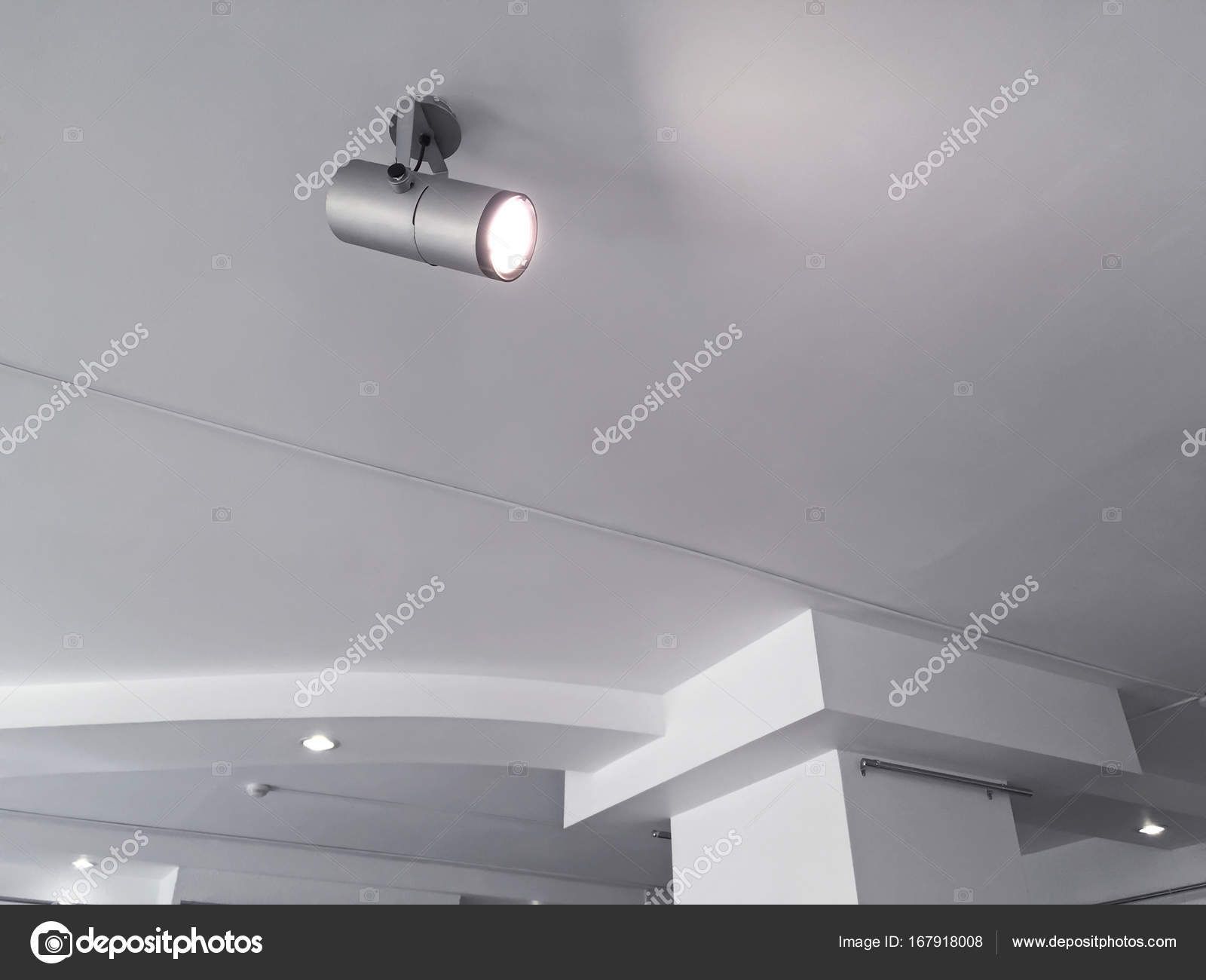Exhibition Ceiling Light Fixtures Bright Halogen Spotlights On Exhibition Ceiling Stock Photo C Mrtwister 167918008