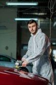 Fotografie Série podrobných automobilů: leštění auto