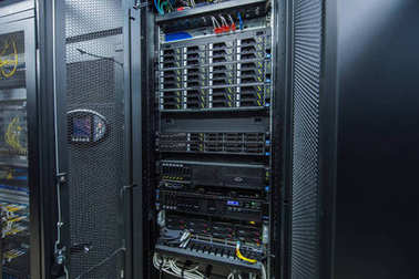 Network servers in data room Domestic Room
