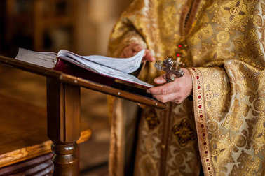 hands of a priest in the Orthodox Church