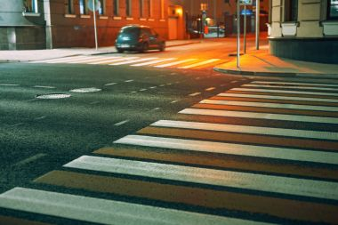 Crosswalk in city