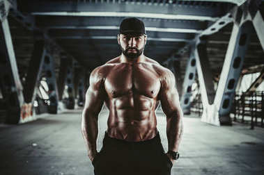 Strong man bodybuilder