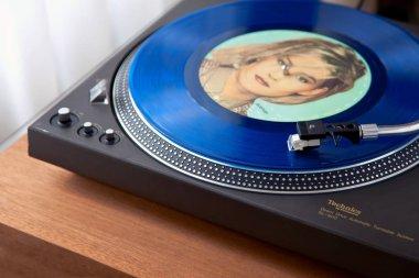 Ontario, Canada - December 26 2017: Vintage Record Turntable Pla