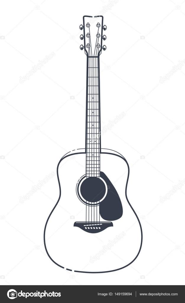 acoustic guitar vector stock vector vecster 149159694 rh depositphotos com acoustic guitar silhouette vector free acoustic guitar vector silhouette