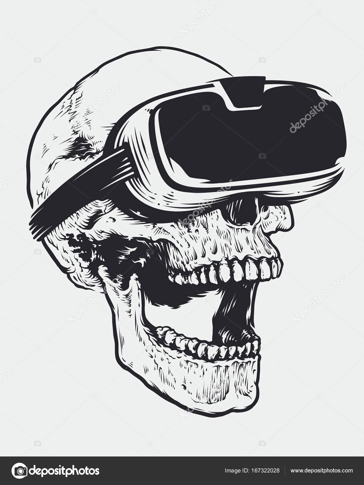 Schädel in Vr-Brillen — Stockvektor © Vecster #167322028